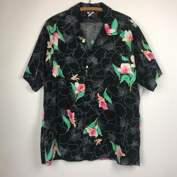 8f87d09a59df66 Hilo Hattie Other - Hilo Hattie Floral Print Hawaiian Shirt
